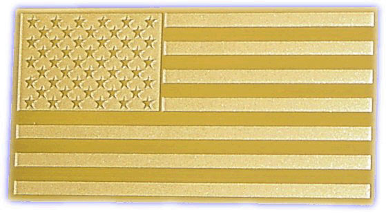 Solid Brass U.S. Flag Car Emblem