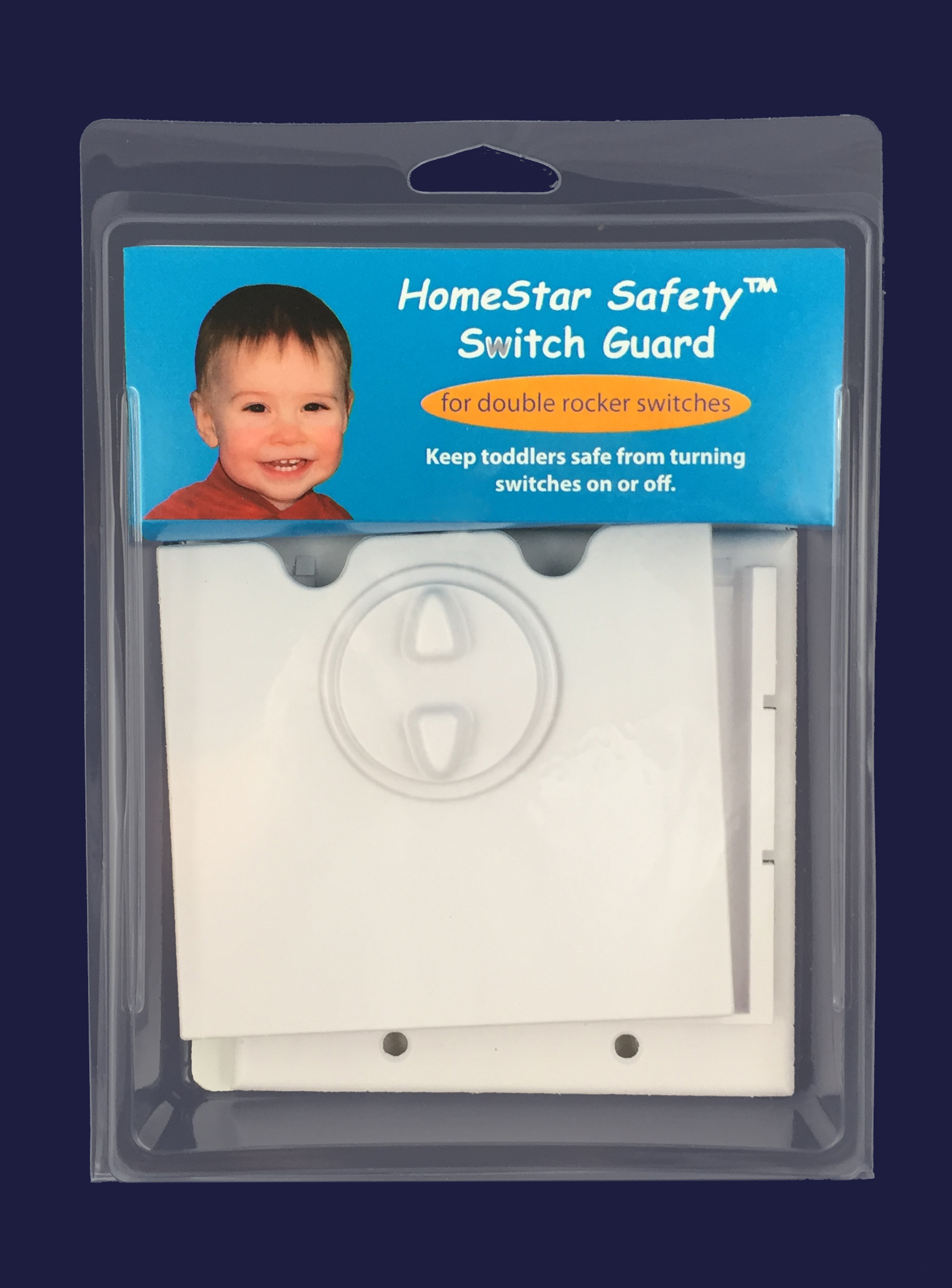 HomeStar Safety Light Switch Guard - White