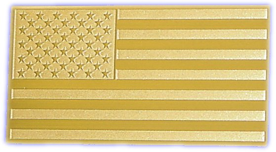 solid brass U.S. flag emblem